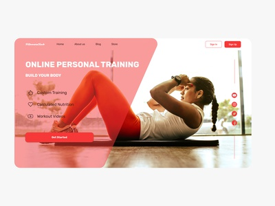 Fitness and Workout Landing Page gym workout fitness landing page landingpage ux uiux ui website design web design webdesign website