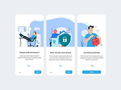 onboarding App smart home smart home smarthome mobile app mobile design mobile ui illustration mobile design app ux ui