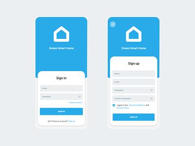 Sign in / Sign up UI sign in signup smart home smarthome mobile ui mobile design mobile app mobile design app ux ui