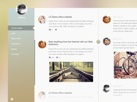 Chatting and sharing page