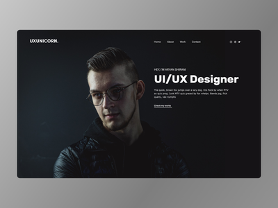 UI/UX Designer Homepage Concept adobexd flat designer clean modern ux ui services professional homepage
