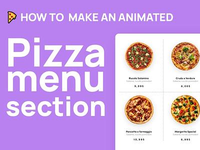Pizza Menu Design Tutorial elementor wordpress ui clean design adobexd tutorial