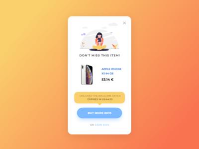UI Daily - Popup Bids Offer