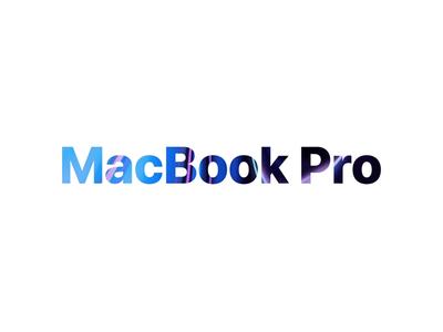 MacBook Pro Advertising Animation