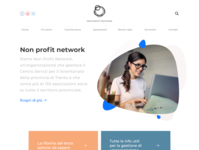 Homepage for non-profit website