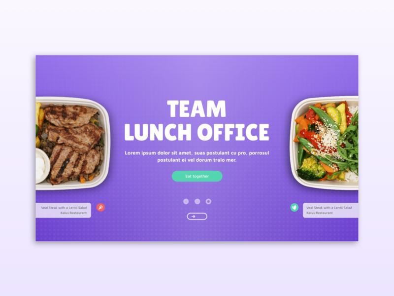 Landing page 🍕 swipe landing page foodie food app canteen online canteen food