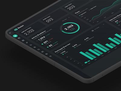 Dark Mode Analytics dailyui components dashboard ui dashboard analytics app ui uiux agency dark mode