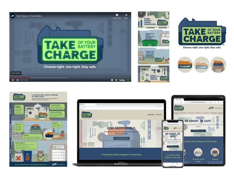 Take Charge video infographic design iconography logo art direction concept