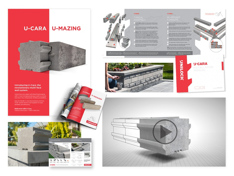 U-Cara tradeshow booth signage layoutdesign print design campaign collateral design video product launch