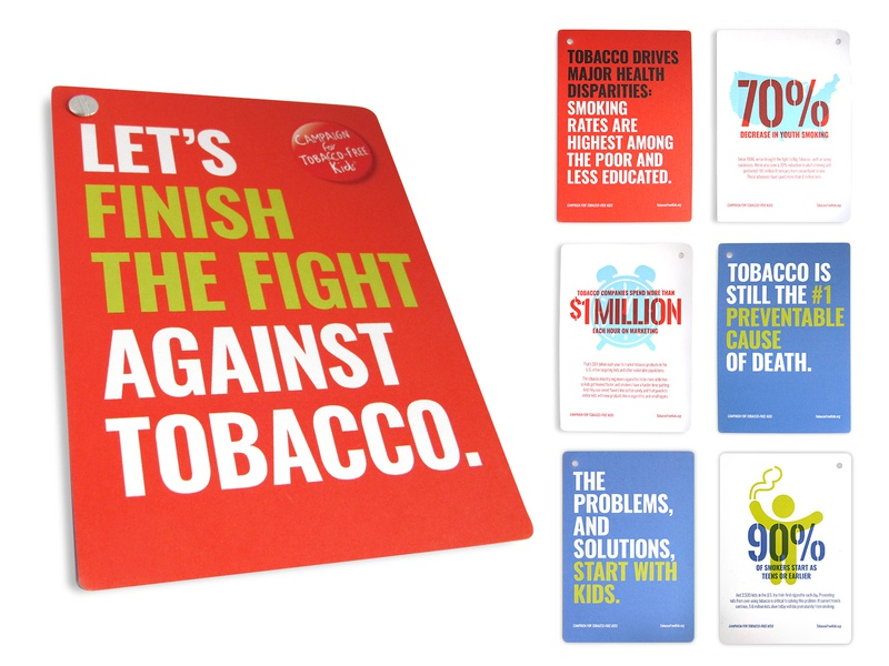 Tobacco Free Kids graphic design design collateral design collateral