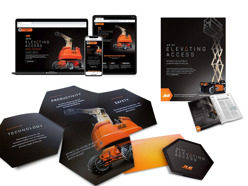 Elevating Access hexagon advertising campaign advertising print design landing page direct mail collateral layout design design art direction