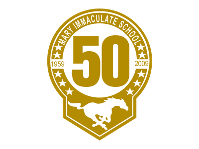 Mary Immaculate Catholic School 50th Anniversary  project vectors ux illustration