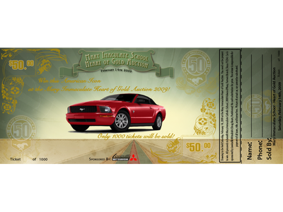 Raffle ticket for Car give away project vectors ux illustration