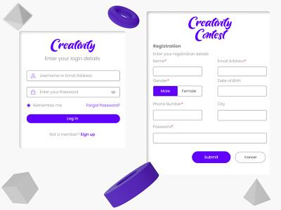 Signup Page for Creativity ux ui webdesign dark dashboard neumorphism neuromorphic signupform modal design modal window form design uiuxdesign uiux dailyui 001 dailyuichallenge dailyui