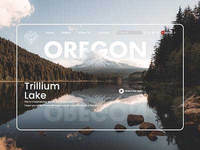 Oregon Site Page Landing uxdesigns design app website web design ux  ui uxdesign uidesign graphicdesign uiuxdesigner nature site webdesign design uiuxdesign uiux landscape landing design landingpage trilliumlake oregon