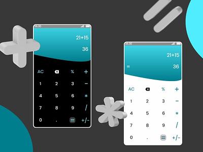 Calculator UI Design illustration design ux graphicdesign 3d calculator calculator ui uxdesign uidesigner ui design ui dailyui004 dailyuichallenge dailyui uidesign uiux