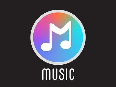 Music logo graphicdesign illustration branding logo logodesign musicappui musicapp music daily ui uxdesign uxuidesign uxui uiux dailyui005 dailyuichallenge dailyui