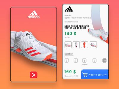 Adidas Shopping page Redesigned uitrend uxdesigner uidesigner designer uiinspiration uiuxcreative 3d animation appdesign userexperiencedesign userinterfacedesign uiuxdesign uxdesign uidesign graphicdesign design ux ui