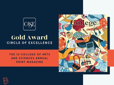 CASE Gold Award - University Publication illustration design