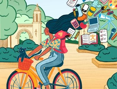 The College Magazine 2019 - Cover Option #2 publication design illustration