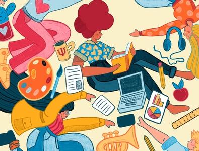 The College Magazine - Cover Option #1 publication illustration design