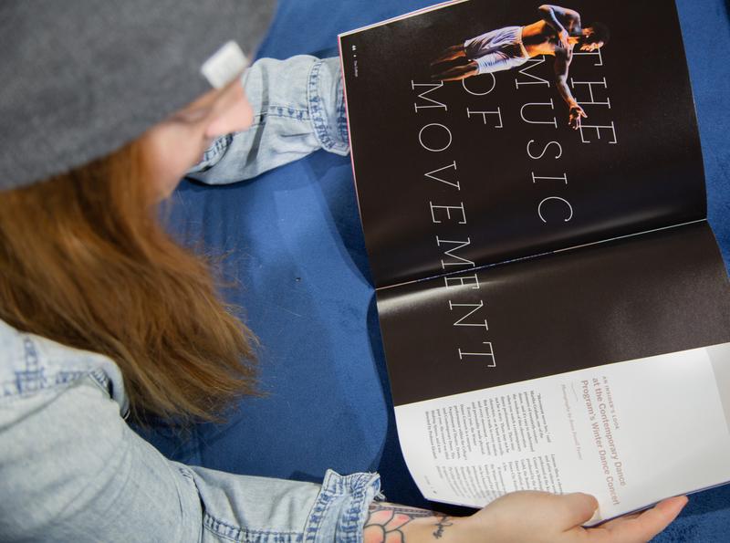 Inside Editorial Spread - The College Magazine publication design