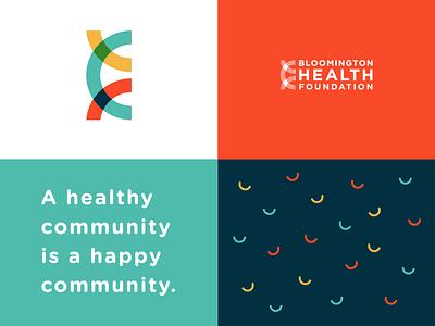 Bloomington Health Foundation icon logo design