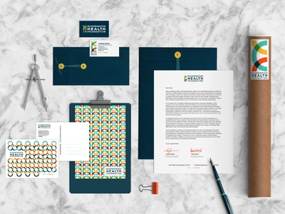 Stationary - Bloomington Health Foundation stationary design mockups design