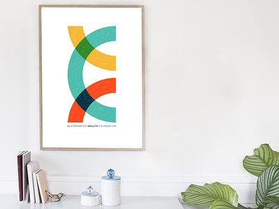 Poster - Bloomington Health Foundation logo icon design