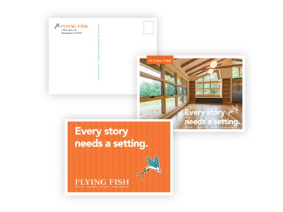 Postcards - Flying Fish stationary design design