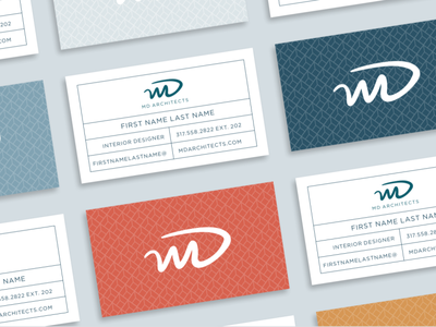 MD Architects - Business Cards stationary design design