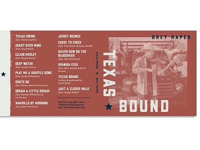 Texas Bound - CD Outside Jacket design cd design