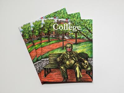 The College Magazine 2020 - Cover stationary design illustration publication design