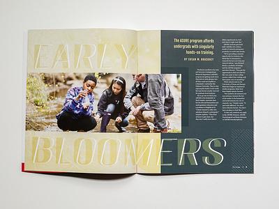 The College Magazine 2020 - Spread Cover #1 stationary design publication design