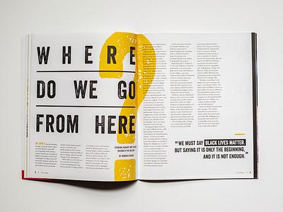 The College Magazine - Spread Cover #2 stationary design publication design