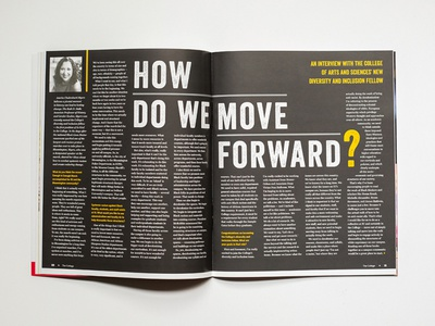The College Magazine - Spread Cover #3 stationary design publication design