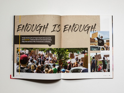 The College Magazine - Spread Cover #4 stationary design publication design