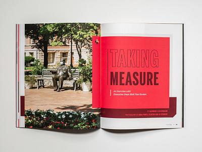 The College Magazine - Spread Cover #8 stationary design publication design