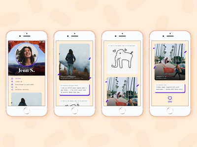 Day 006 - Profile Page social dating illustration ux typography branding visualdesign ui dailyuichallenge dailyui