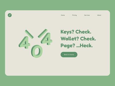 Day008 - 404error mockup limited palette 404 error 404 pastel minimal illustration typography uxui branding visualdesign ui dailyui