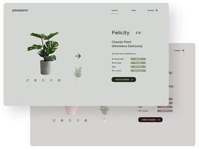 Day 012 - E-commerce Shop simple icon millenial plants limited palette minimal typography branding dailyuichallenge visualdesign ui dailyui