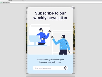Day 016 - Pop-up Overlay accessibility button subscribe overlay popup limited palette illustration minimal typography uxui branding dailyuichallenge visualdesign ui dailyui