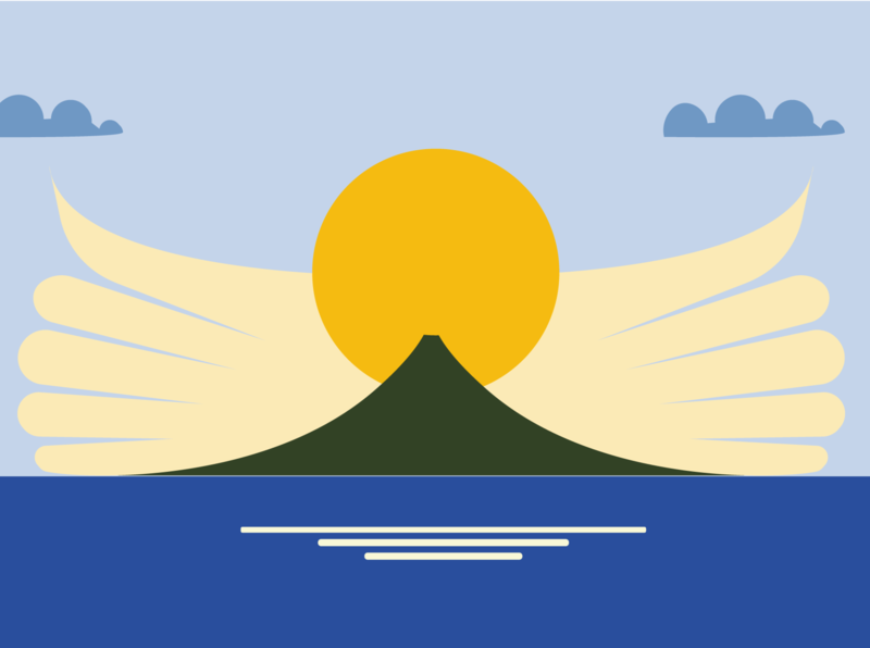 Sunrise sunrise mountain animation illustration