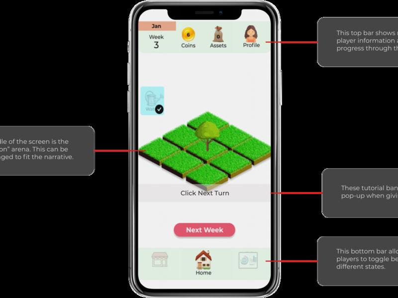 MentaMorph | Annotated Game Screen flat ux app ui ios education app game branding minimal design