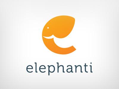 elephant logo e elephant orange face type