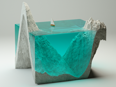 Concrete Sculpture Exploration render cinema4d redshift epoxy concrete cgi 3d 3d art