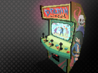 fictional arcade cabinet