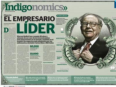 The leading businessman illustration art editorial illustration