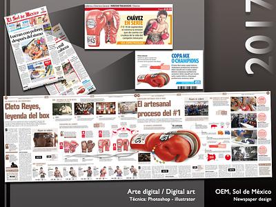 Cleto Reyes, leyenda del box sports editorial infographic illustration art