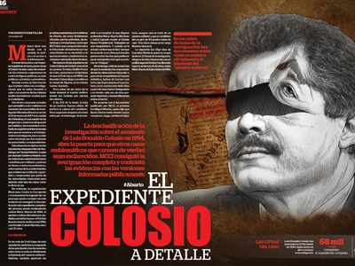 The Colosio file in detail editorial illustration art